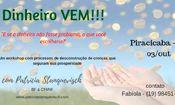 Piracicaba - Workshop Dinheiro VEM!