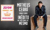 Stand Up Matheus Ceará em Piracicaba/SP
