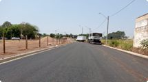 Prefeitura segue com a pavimentação de ruas e avenidas no Santa Rita